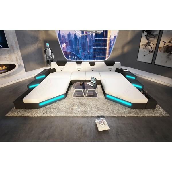 Design bank ROYAL XXL met LED verlichting en USB-poort NATIVO design meubelen Nederland