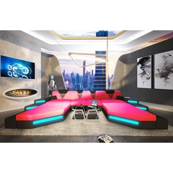 Design bank ROYAL XL met LED verlichting en USB-poort NATIVO design meubelen Nederland