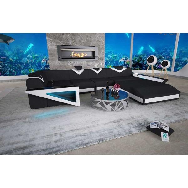 Design bed BERN v1 met LED verlichting en USB-poort NATIVO design meubelen Nederland