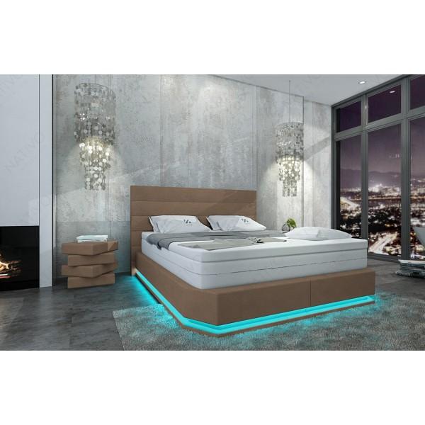 Design bed BERN v2 met LED verlichting en USB-poort
