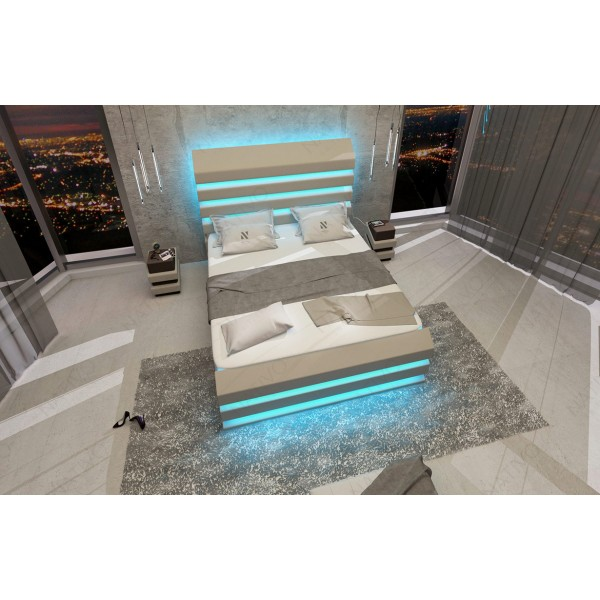 Design bed BERN v2 met LED verlichting en USB-poort NATIVO design meubelen Nederland