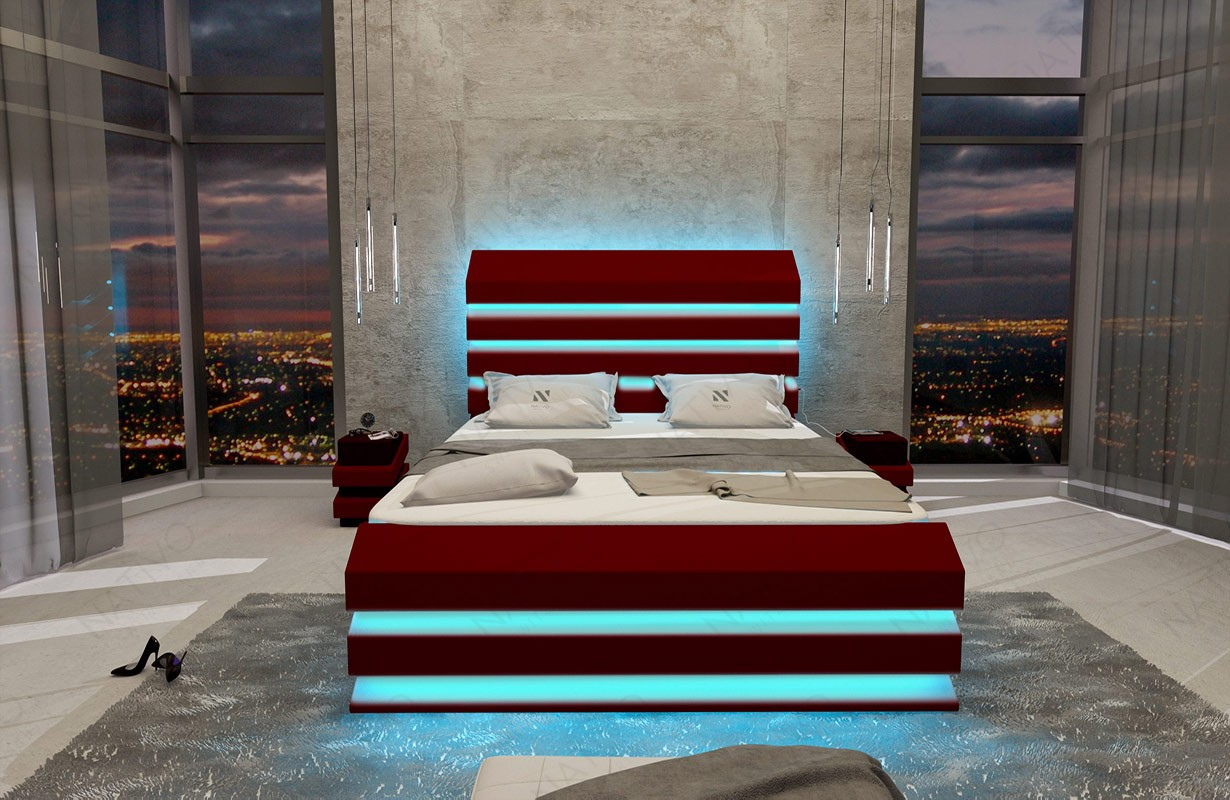 Design bed LENOX met LED verlichting NATIVO meubelen Nederland