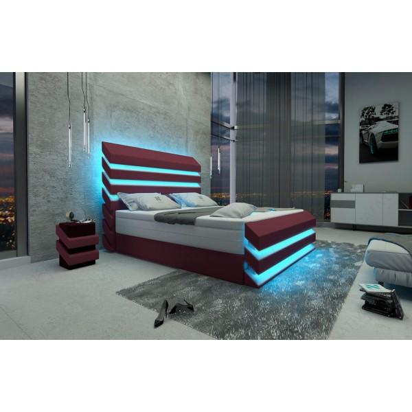 Design bed LENOX met LED verlichting NATIVO design meubelen Nederland