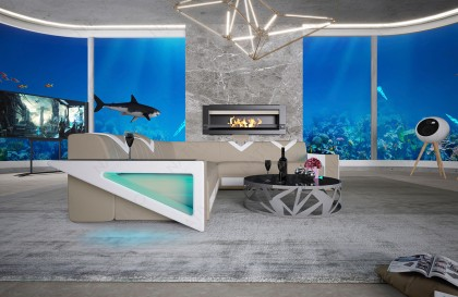 Design bed FLOYD met LED verlichting NATIVO design meubelen Nederland
