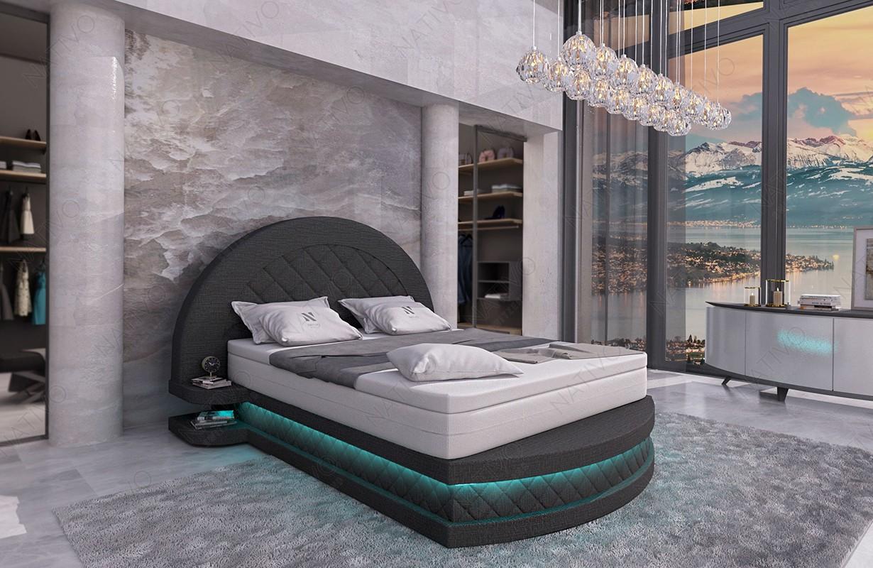 Design bed NATIVO MOON met LED verlichting meubelen Nederland