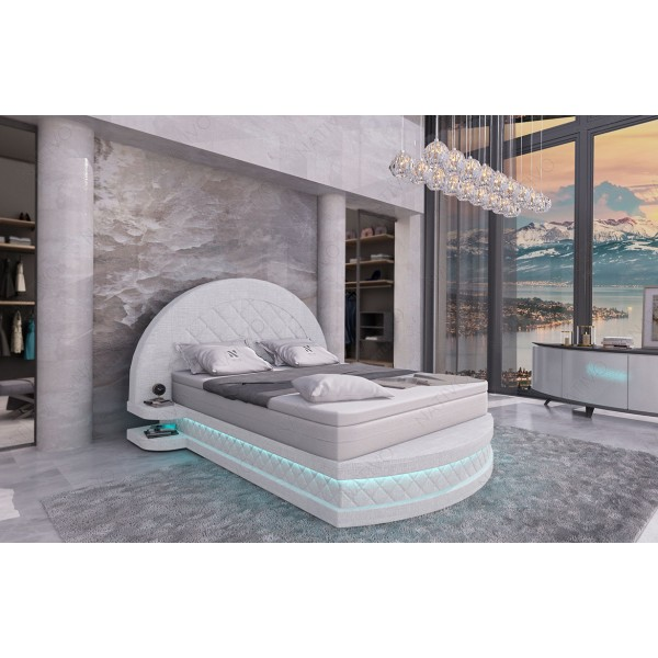 Design bed MOON met LED verlichting NATIVO design meubelen Nederland
