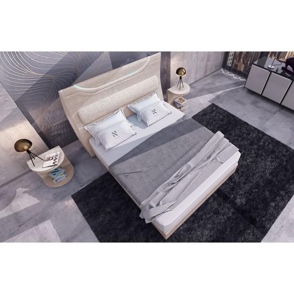 Design bed COCO v2 met LED verlichting NATIVO design meubelen Nederland