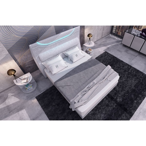 Design bed COCO met LED verlichting NATIVO design meubelen Nederland