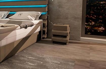Design bank ROYAL CORNER met LED verlichting en USB-poort NATIVO design meubelen Nederland