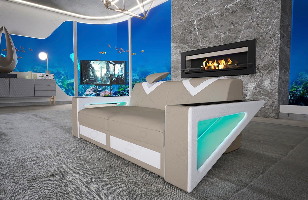 Design bank FALCO 2-zitsbank met LED verlichting en USB-poort