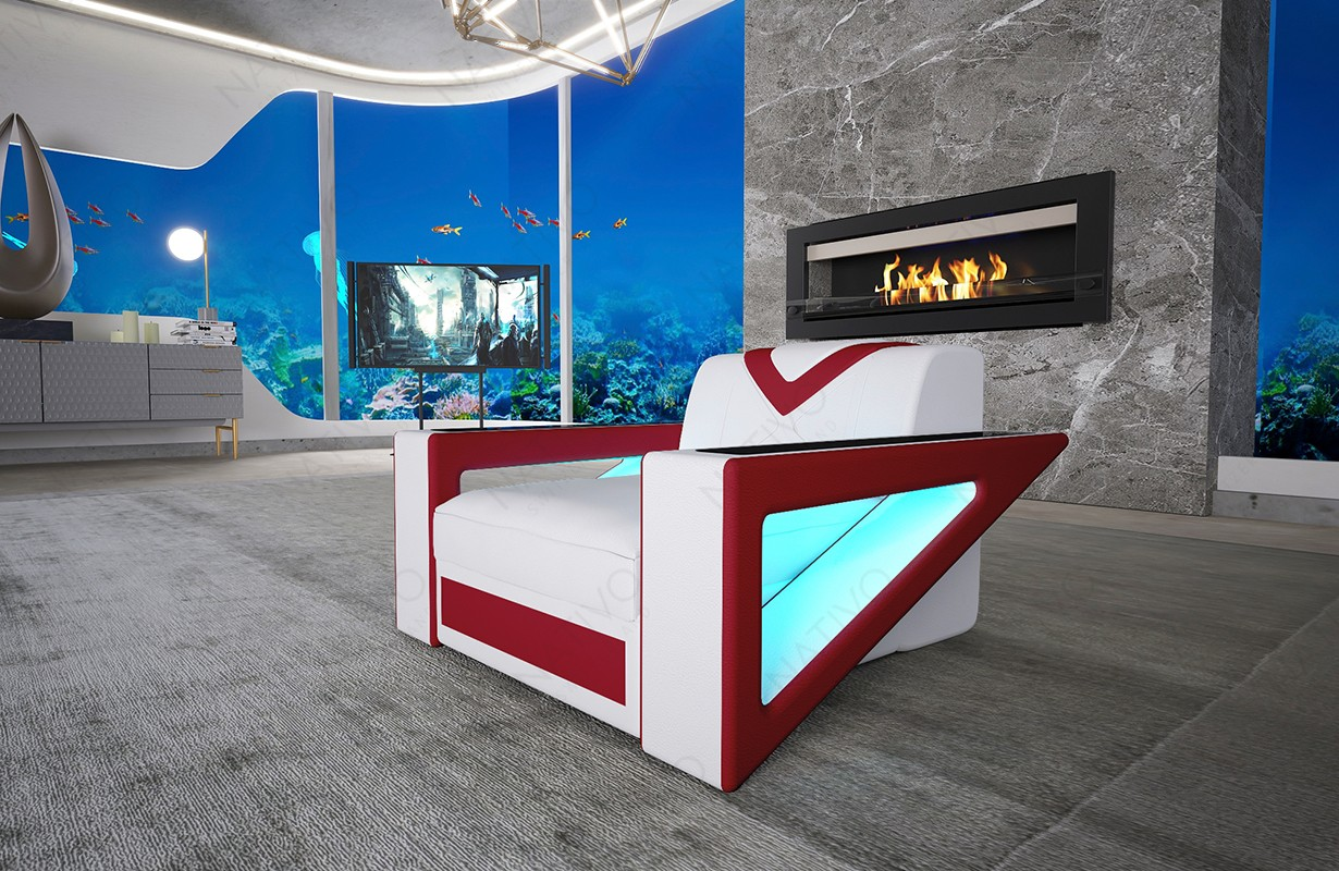 Design fauteuil FALCO met LED verlichting en USB-poort
