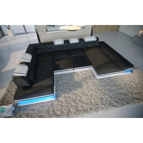 Bed boxspring FRANKFURT uitgevoerd in stof met topper en USB-poort NATIVO design meubelen Nederland