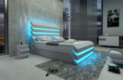Rotan loungebank TORRO XXL met LED verlichting NATIVO design meubelen Nederland
