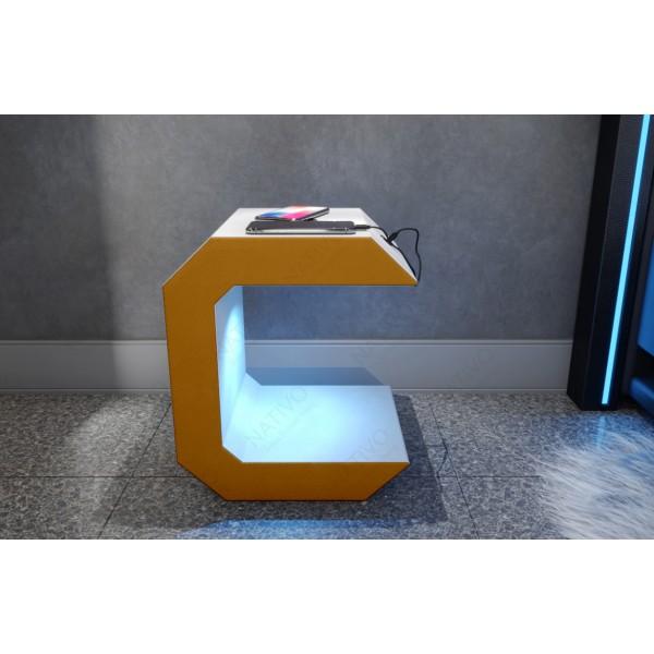 Design bank ROYAL MINI met LED verlichting en USB-poort NATIVO design meubelen Nederland