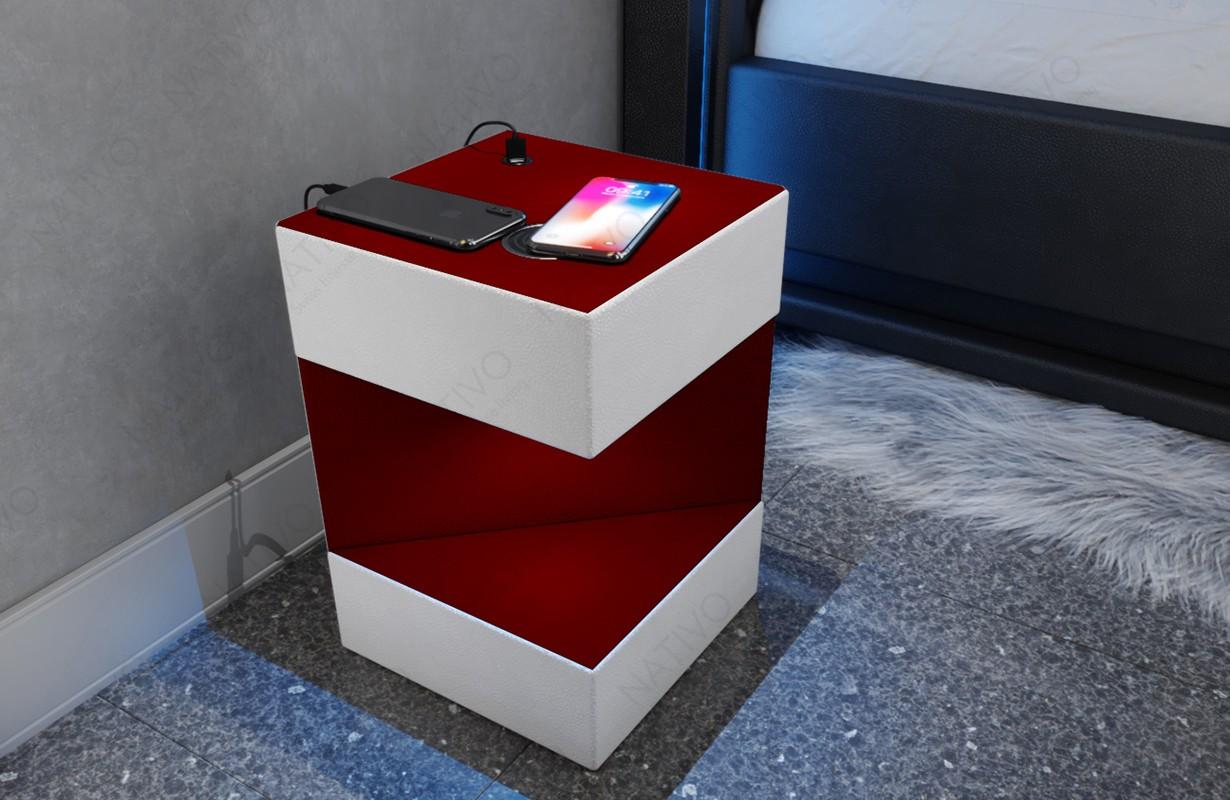 Design nachtkastje COSMOS met USB-poort en draadloze oplader