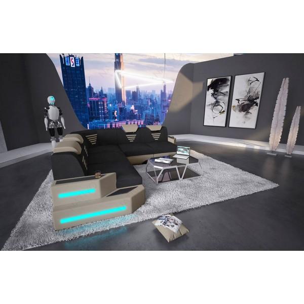 Design bank CLERMONT XL U-vorm met LED verlichting NATIVO design meubelen Nederland