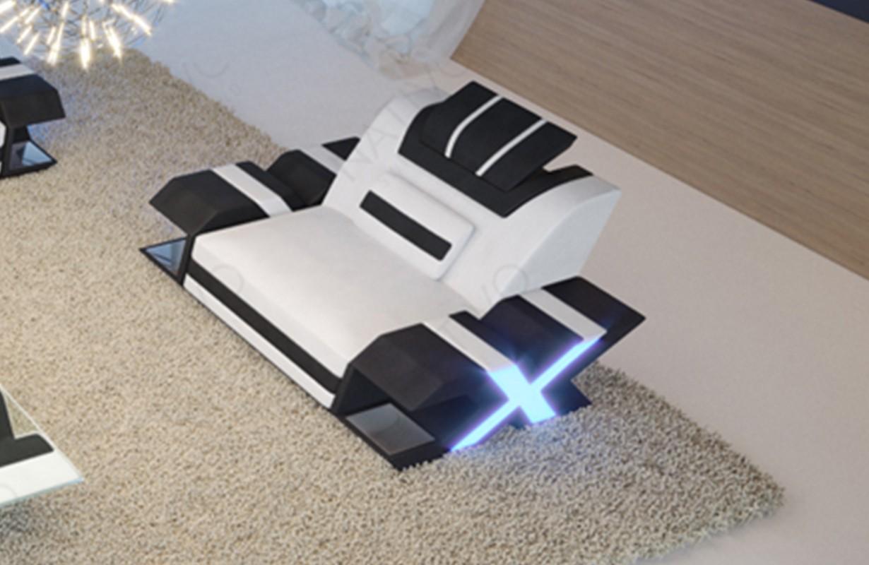 Design fauteuil MYSTIQUE met LED verlichting en USB-poort