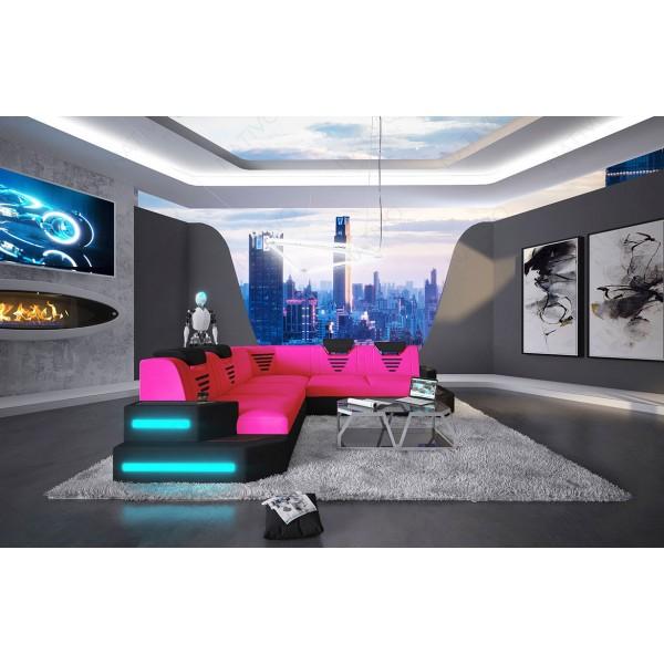 Design bank CLERMONT CORNER met LED verlichting NATIVO design meubelen Nederland