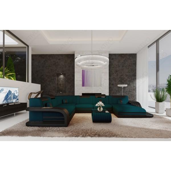 Compleet bed BERN v1 met LED verlichting en USB-poort NATIVO design meubelen Nederland