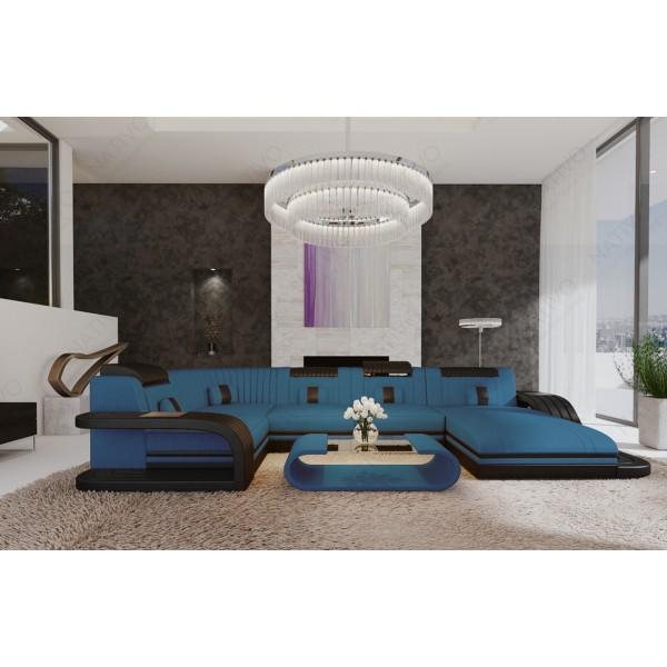 Compleet bed BERN v2 met LED verlichting en USB-poort NATIVO design meubelen Nederland